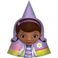 """Doc McStuffins Paper Cone 6"""" Hats (8 Pack)"""