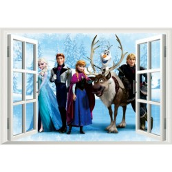 Disney Frozen Party - Wall Sticker Poster (Landscape)