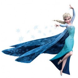Disney Frozen Party - Wall Sticker Poster (Elsa)