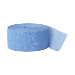 Solid Crepe Streamers (Blue)