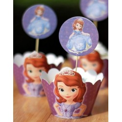 Sofia the First Cupcake Toppers