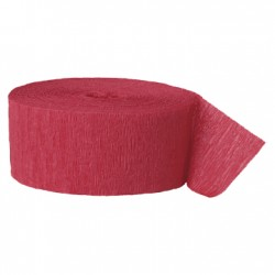 Solid Crepe Streamers (Red)