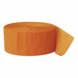 Solid Crepe Streamers (Orange)