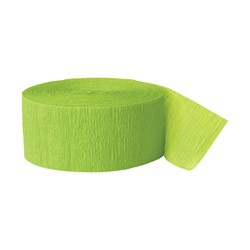 Solid Crepe Streamers (Lime Green)