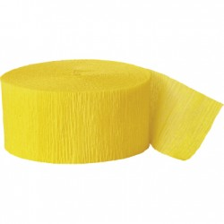 Solid Crepe Streamers (Yellow)