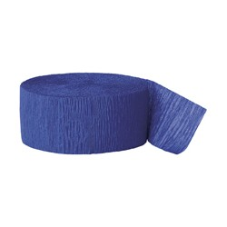 Solid Crepe Streamers (Royal Blue)