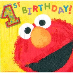 Sesame Street 1st Birthday Lunch Napkins