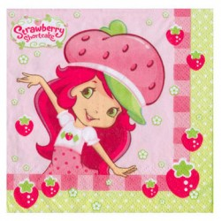 Strawberry Shortcake Beverage Napkins