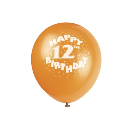 Happy 12th Birthday Printed Balloons