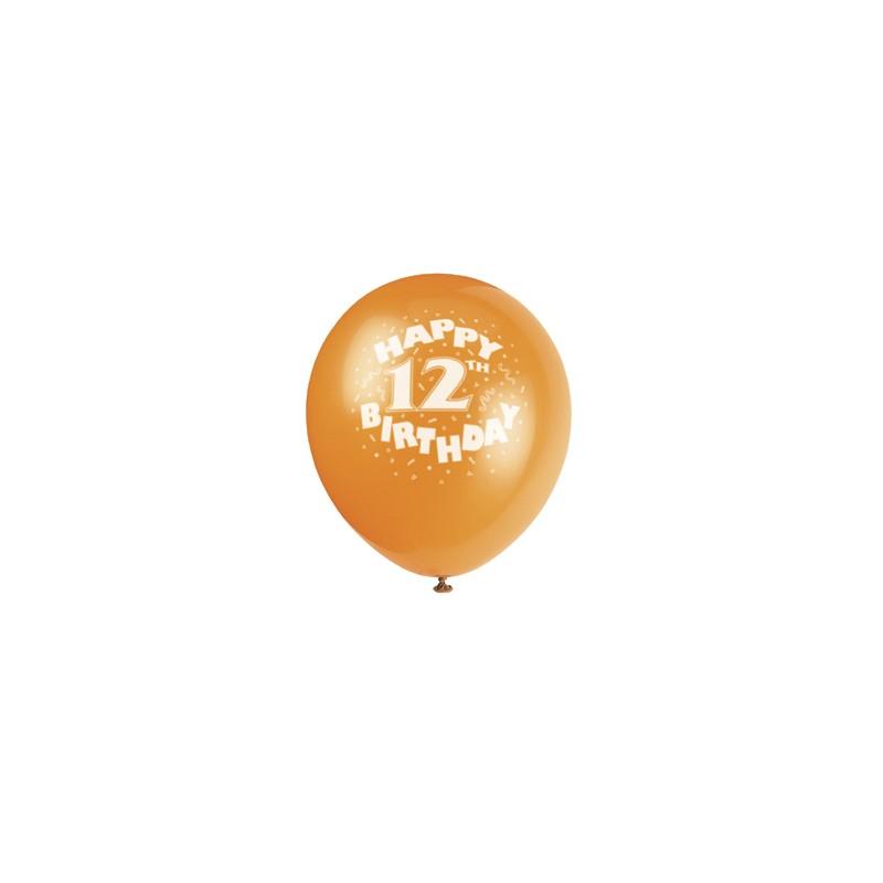 Happy 12th Birthday Printed Balloons