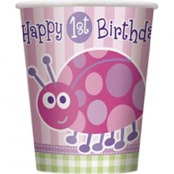 Ladybug First Birthday Party Cups