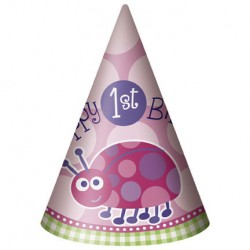 ladybug First Birthday Party Hats