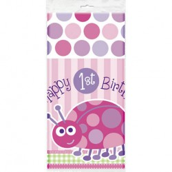 Ladybug First Birthday Tablecover
