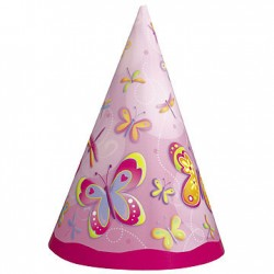 Pink Butterfly Party Hats