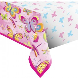 Pink Butterfly Tablecover