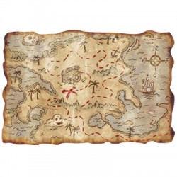 Pirate Treasure Map (Plastic)