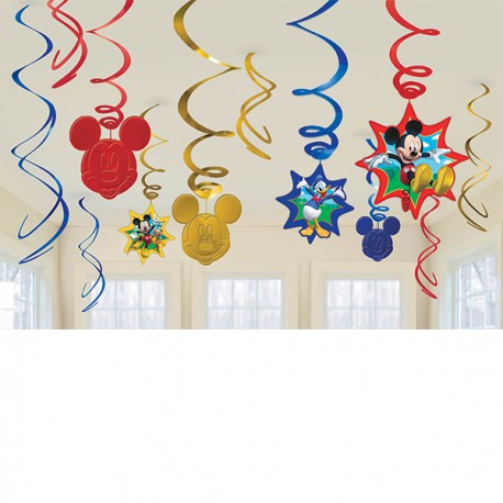 Mickey Mouse Swirl Decorations