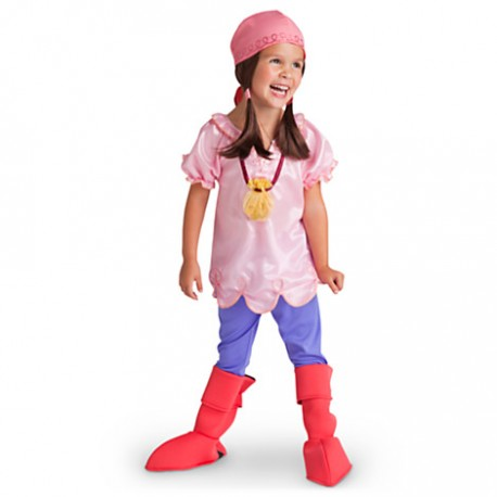 Toddler Girls Child Disney Jake /& The Neverland Pirates DLX Izzy Pirate Costume