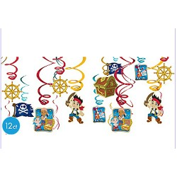 Jake and The Never Land Pirates Hanging Swirl Decorations