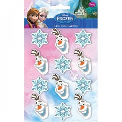 Disney Frozen Olaf Icing Decorations 12 pack