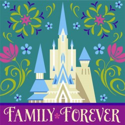 Disney Frozen Party Napkins 10""