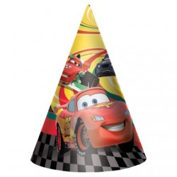 "Cars 6"" Cone Party Hats (8 Pack)"