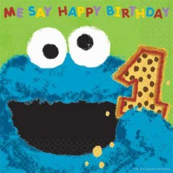 Sesame Street 1st Birthday Green Napkins (36-pack)