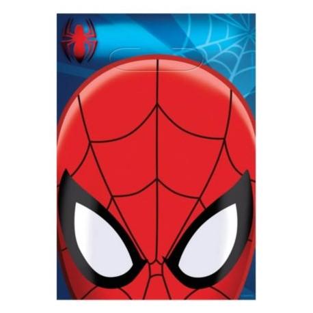 Spiderman Plastic Loot Bags (8 Pack)