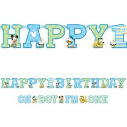 Mickey Mouse 1st Birthday Jumbo Letter Banner Combo (Each)