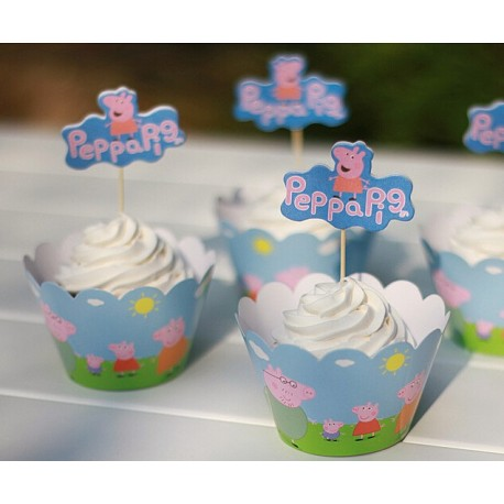 Peppa Pig Cupcake Toppers Partyland New Zealands Birthday Party